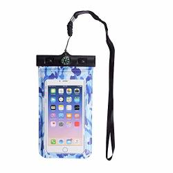 Kelydi Waterproof Phone Case Protector Water Proof Cell Phone Pouch For Outdoor Activities For Iphone X 8 7PLUS 6S Samsung GALAXYS9 S8 Etc Smart Phones - Ocean