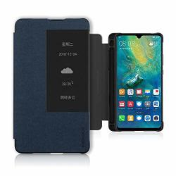 HUAWEI Mate 20X 5G Case Pc+pu Leather Case With M-pen Slot Shockproof Full Body Protection Cover For Mate 20 X 5G Blue