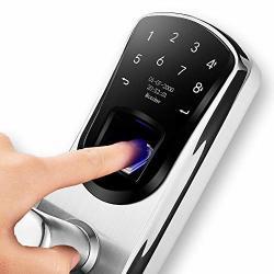 AIGURD Fingerprint Smart Door Lock Biometric Keyless Electronic Lock Touchscreen 304 Stainless Steel Keypad Lock F22 Left Handle