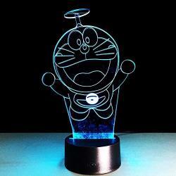 Asqwq 3D LED Night Light Lamp Cool Kids Doraemon Japanese Anime