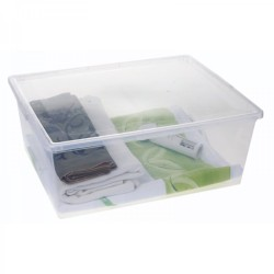 Addis 30l Storage Box Clear