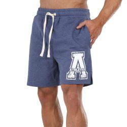 Athletico Mens A-Logo Shorts in Navy & White