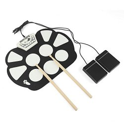 Sourcingbay Portable Electronic Roll Up Drum Pad Kit Silicon Foldable With Stick