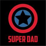 Captain America Super Dad Hoodie Black