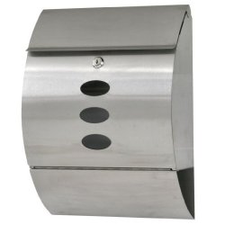 Qinhum Durable Stainless Steel Mailbox Silver Ship From Us