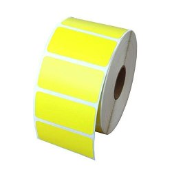 Zebra Compatible 56001 Yellow Labels 2IN X 1IN - 1280 Labels Per Roll