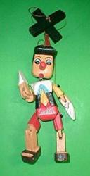Pinocchio Marionette Puppet Hand Carved Wood Medium Size 12
