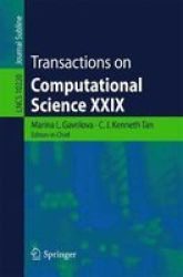 Transactions On Computational Science Xxix Paperback 1ST Ed. 2017