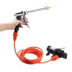 12V 100W 200PSI Car Wash Pump Sprayer Kit Tool High Pressure Self-priming Auto Washer Sprayer Cleani