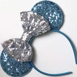 Clgift Cinderella Inspired Minnie Mouse Ears Blue Mickey Mouse Ears Princess Ears Cinderella Minnie Ears Rainbow Sparkle Mouse Ears Classic Red Sequin Minnie Ears Cinderella