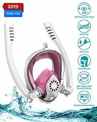 Aven Snorkel Mask Full Face Double Tubes Backstroke Swimming Breathing Mask 180 Panoramic View Easy Breath Anti-fog Anti-leak Wi
