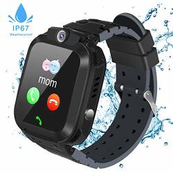 Fediman Kids Smart Watches Waterproof Smart Watches For Kids With Games Touch Screen Lbs Tracker Sos Call Camera Kids Watch Sim Card Slot Compatible