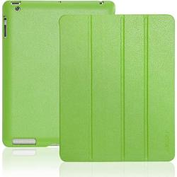 Invellop Gecko Green Leatherette Cover Case For Ipad 2 Ipad 3 Ipad 4 Built-in Magnet For Sleep wake Feature Ipad 2 Case
