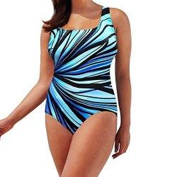 Sunyastor Plus Size Swimsuit for Women Retro Two Piece Tankini Tummy Control Bathing Suit Swimwear with High Waisted Bottom