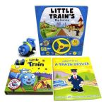 Little Train 3-BOOK Collection - With Fold-out Play Track & MINI Train Figurine