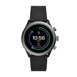 Men's Fossil Gen 4 Sport Heart Rate Metal And Silicone Touchscreen Smartwatch Color: Grey Black FTW4019