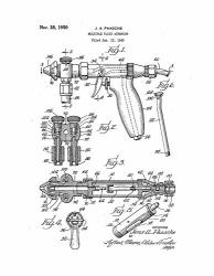 "Frame A Patent Multiple Fluid Airbrush Patent Print White Matte 13"" X 19"" M15230"