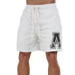 Athletico Small Mens A-Logo Shorts in Ice Melange & Black