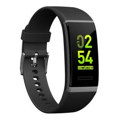 V11 Fitness Tracker 0.96 Inch Oled Screen Smartband Bracelet IP67 Waterproof Support Sports Mode Blood Pressure Sleep Monitor Heart Rate Monitor Remote Shooting Black