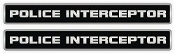 JAY Graphics Police Interceptor Vinyl Decals Stickers Emblems Labels Mustang Camaro Race Car