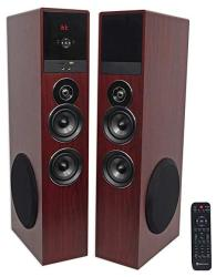 Rockville TM80W Bluetooth Home Theater Tower Speaker System W 2 8 Subwoofers