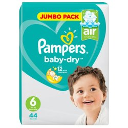 Pampers Active Baby Nappies Jumbo XL 44'S