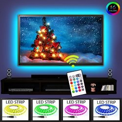"""TV LED Backlight Rgb 16 Changing Colors USB Waterproof LED Lighting 2M Strip Set 3M Adhesive Tape For 40"""" To 60"""" HD Screen With"""