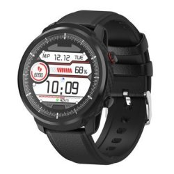 Bakeey S10P Full Touch Leather Strap Wristband Blood Pressure And Oxygen Monitor I