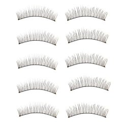 START 10 Pair Natural Beauty Long Soft Dense Handmade False Eyelashes