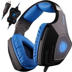 a12356cfd3a Sades A60 7.1 Surround Sound Headphones With MIC USB PC Gaming Headset  Stereo Headsets Headband With High Sensitivity Microphone Vibration Noise-canceling  ...