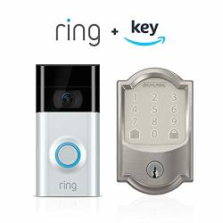 Ring Video Doorbell 2 + Schlage Encode Smart Wifi Deadbolt Works With Key By Amazon Keyless Access Only