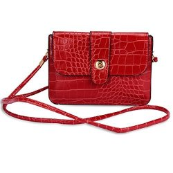 MAGGIE Sumaclife Universal Horizontal MINI Shoulder Bag For Blackberry Passport Silver Edition Leap Priv P9983 Z3 Z10 Z30 Unnecto Air 5.5 Red