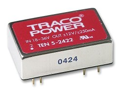 Tracopower Ten 5-2422 Isolated Board Mount Dc dc Converter Dip Through Hole Fixed 36 V 18 V 2