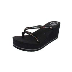 Guess Womens Selya Open Toe Casual Platform Sandals Multicolor Size 7.0