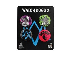 WATCH Dogs 2 Pins Buttons Collection Set 2 Official Ubisoft Collection By Ubi Workshop