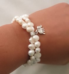 White Fresh Water Pearl Bracelet