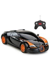 Rastar Rc Car 1:24 Bugatti Veyron 16.4 Grand Sport Vitesse Radio Remote Control Racing Toy Car Model Vehicle Black orange