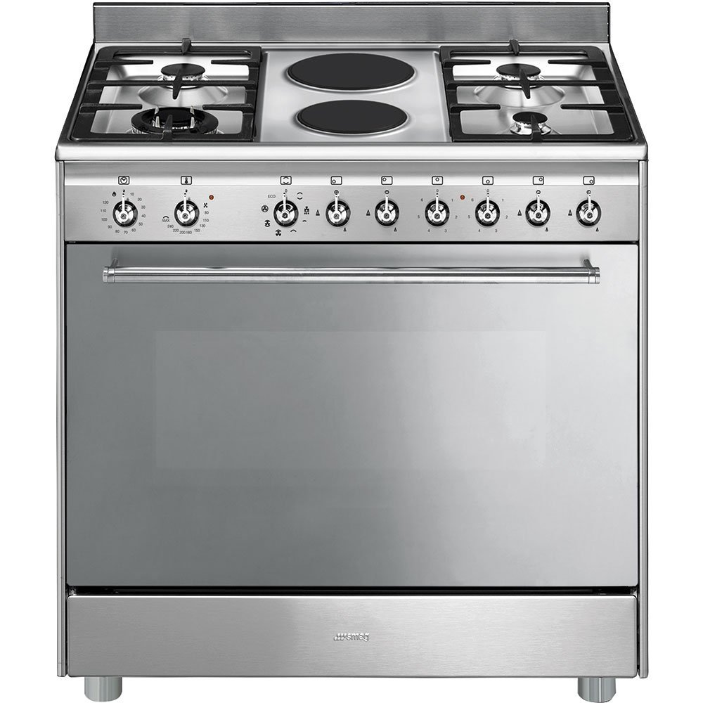Smeg SSA92MAX9 90cm Gas Electric Cooker Stainless Steel