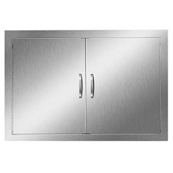 Bbq Access Door 28 X 19 Inch Bbq Island Door Brushed Stainless Steel Perfect For Outdoor Kitchen Or Bbq Island 28W X 19H