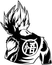 "KyokoVinyl Dragon Ball Z Dbz - Goku Super Saiyan Anime Decal Sticker For Car truck laptop 6.2"" X 5.0"" Black"