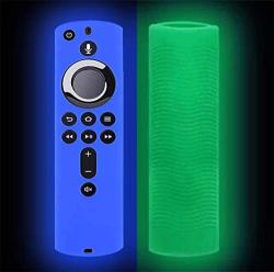 Aliturtle Luminous Protective Cover For Amazon Fire Tv Stick 4K Remote Control Luminous Soft Silicone Anti Slip Shockproof Dustp
