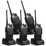 EWarehouse Retevis H-777 2 Way Radio Walkie Talkies Uhf 16CH Ctcss dcs Flashlight Walkie Talkies 5 Pack