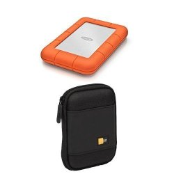 1eba0f5c3 LaCie USB 3.0 1TB Rugged MINI Hard Drive With Case Logic Portable Hard  Drive Case Black