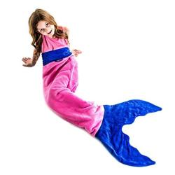 Blankie Tails Mermaid Blanket For Kids - Fun Playful Design Lets Kids Climb Inside - Double-sided Soft Fleece Tail - The Origina
