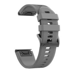 Replacement Silicone Band For Fenix 5X & Fenix 3 - Grey 26MM