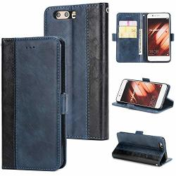AICEDA Huawei P10 Wallet Case Folio Style Premium Huawei P10 Card Cases Stand Feature Compatible With Huawei P10 Blue Case Compatible With
