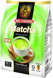 Aik Cheong Matcha 12 SACHETS25G Teh Hijau PRACAMPUR+1 Free Nine Chef Spoon