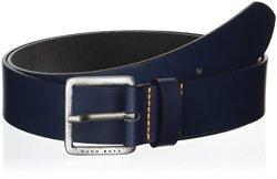 Boss Orange Men's Jeeko Italian Leather Belt Dark Blue Us 44 - Eu 115