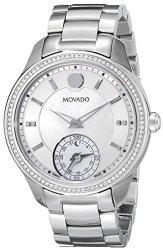 Movado Women&apos S 0660006 Analog Display Swiss Quartz Silver Smartwatch