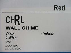 System Sensor Chrl - Wall Mountable Chime - L-series